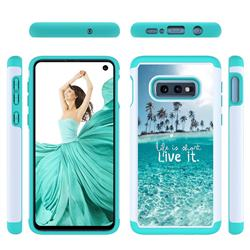 Sea and Tree Shock Absorbing Hybrid Defender Rugged Phone Case Cover for Samsung Galaxy S10e (5.8 inch)