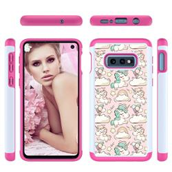 Pink Pony Shock Absorbing Hybrid Defender Rugged Phone Case Cover for Samsung Galaxy S10e (5.8 inch)