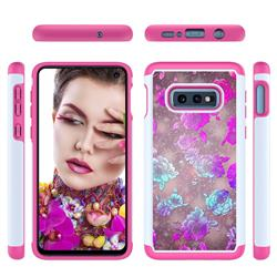 peony Flower Shock Absorbing Hybrid Defender Rugged Phone Case Cover for Samsung Galaxy S10e (5.8 inch)