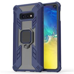 Predator Armor Metal Ring Grip Shockproof Dual Layer Rugged Hard Cover for Samsung Galaxy S10e (5.8 inch) - Blue