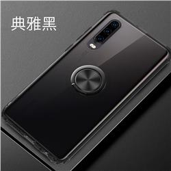 Anti-fall Invisible Press Bounce Ring Holder Phone Cover for Samsung Galaxy S10e (5.8 inch) - Elegant Black