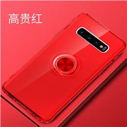 Anti-fall Invisible Press Bounce Ring Holder Phone Cover for Samsung Galaxy S10e (5.8 inch) - Noble Red
