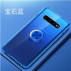 Anti-fall Invisible Press Bounce Ring Holder Phone Cover for Samsung Galaxy S10e (5.8 inch) - Sapphire Blue