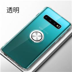Anti-fall Invisible Press Bounce Ring Holder Phone Cover for Samsung Galaxy S10e (5.8 inch) - Transparent