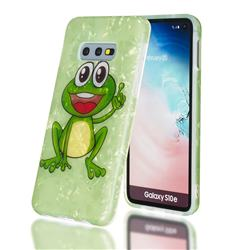 Smile Frog Shell Pattern Clear Bumper Glossy Rubber Silicone Phone Case for Samsung Galaxy S10e (5.8 inch)