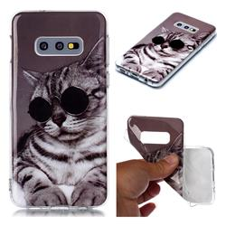 Kitten with Sunglasses Soft TPU Cell Phone Back Cover for Samsung Galaxy S10e (5.8 inch)