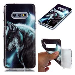 Fierce Wolf Soft TPU Cell Phone Back Cover for Samsung Galaxy S10e (5.8 inch)