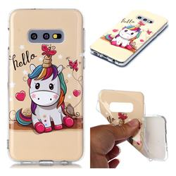 Hello Unicorn Soft TPU Cell Phone Back Cover for Samsung Galaxy S10e (5.8 inch)