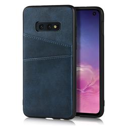 Simple Calf Card Slots Mobile Phone Back Cover for Samsung Galaxy S10e (5.8 inch) - Blue