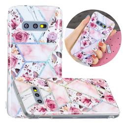 Rose Flower Painted Galvanized Electroplating Soft Phone Case Cover for Samsung Galaxy S10e (5.8 inch)