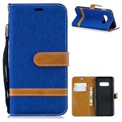 Jeans Cowboy Denim Leather Wallet Case for Samsung Galaxy S10 Lite(5.8 inch) - Sapphire