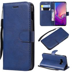 Retro Greek Classic Smooth PU Leather Wallet Phone Case for Samsung Galaxy S10 Lite(5.8 inch) - Blue