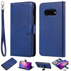 Retro Greek Detachable Magnetic PU Leather Wallet Phone Case for Samsung Galaxy S10 Lite(5.8 inch) - Blue