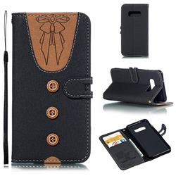 Ladies Bow Clothes Pattern Leather Wallet Phone Case for Samsung Galaxy S10 Lite(5.8 inch) - Black