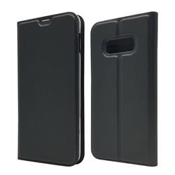 Ultra Slim Card Magnetic Automatic Suction Leather Wallet Case for Samsung Galaxy S10e (5.8 inch) - Star Grey