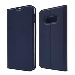 Ultra Slim Card Magnetic Automatic Suction Leather Wallet Case for Samsung Galaxy S10e (5.8 inch) - Royal Blue