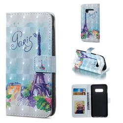Paris Tower 3D Painted Leather Phone Wallet Case for Samsung Galaxy S10e (5.8 inch)