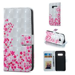 Cherry Blossom 3D Painted Leather Phone Wallet Case for Samsung Galaxy S10e (5.8 inch)