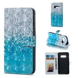 Sea Sand 3D Painted Leather Phone Wallet Case for Samsung Galaxy S10e (5.8 inch)
