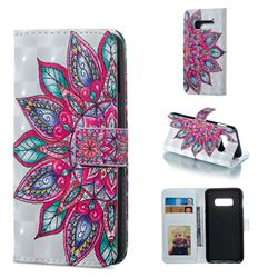 Mandara Flower 3D Painted Leather Phone Wallet Case for Samsung Galaxy S10e (5.8 inch)