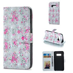 Roses Flower 3D Painted Leather Phone Wallet Case for Samsung Galaxy S10e (5.8 inch)
