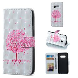 Sakura Flower Tree 3D Painted Leather Phone Wallet Case for Samsung Galaxy S10e (5.8 inch)