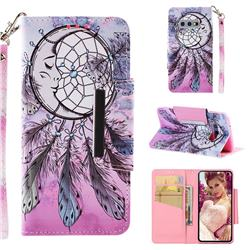 Angel Monternet Big Metal Buckle PU Leather Wallet Phone Case for Samsung Galaxy S10e (5.8 inch)