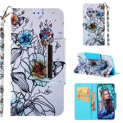 Fotus Flower Big Metal Buckle PU Leather Wallet Phone Case for Samsung Galaxy S10e (5.8 inch)