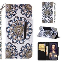 Phoenix Tail Big Metal Buckle PU Leather Wallet Phone Case for Samsung Galaxy S10e (5.8 inch)