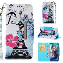 Lip Tower Big Metal Buckle PU Leather Wallet Phone Case for Samsung Galaxy S10e (5.8 inch)