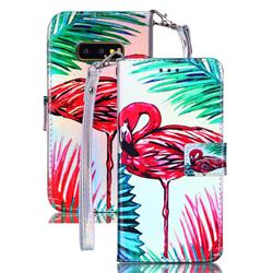 Flamingo Blue Ray Light PU Leather Wallet Case for Samsung Galaxy S10e (5.8 inch)