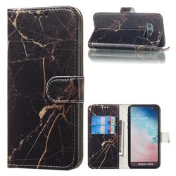 Black Gold Marble PU Leather Wallet Case for Samsung Galaxy S10e (5.8 inch)