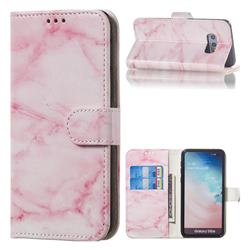 Pink Marble PU Leather Wallet Case for Samsung Galaxy S10e (5.8 inch)
