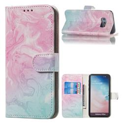 Pink Green Marble PU Leather Wallet Case for Samsung Galaxy S10e (5.8 inch)