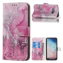 Pink Seawater PU Leather Wallet Case for Samsung Galaxy S10e (5.8 inch)