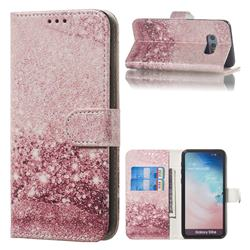 Glittering Rose Gold PU Leather Wallet Case for Samsung Galaxy S10e (5.8 inch)