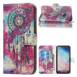 Butterfly Chimes PU Leather Wallet Case for Samsung Galaxy S10e (5.8 inch)