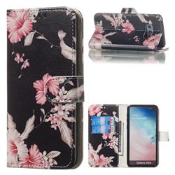 Azalea Flower PU Leather Wallet Case for Samsung Galaxy S10e (5.8 inch)
