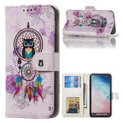 Wind Chimes Owl 3D Relief Oil PU Leather Wallet Case for Samsung Galaxy S10e (5.8 inch)