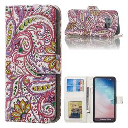 Pepper Flowers 3D Relief Oil PU Leather Wallet Case for Samsung Galaxy S10e (5.8 inch)