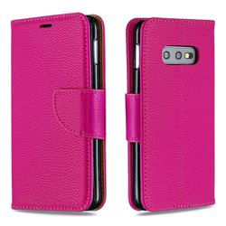 Classic Luxury Litchi Leather Phone Wallet Case for Samsung Galaxy S10e (5.8 inch) - Rose