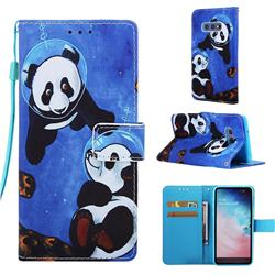 Undersea Panda Matte Leather Wallet Phone Case for Samsung Galaxy S10e (5.8 inch)