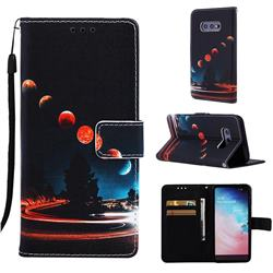 Wandering Earth Matte Leather Wallet Phone Case for Samsung Galaxy S10e (5.8 inch)