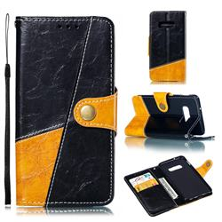 Retro Magnetic Stitching Wallet Flip Cover for Samsung Galaxy S10e (5.8 inch) - Black