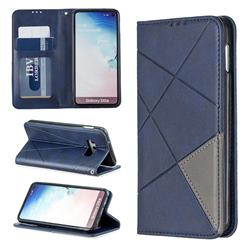 Prismatic Slim Magnetic Sucking Stitching Wallet Flip Cover for Samsung Galaxy S10e (5.8 inch) - Blue