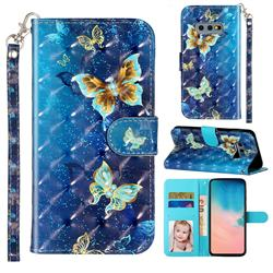 Rankine Butterfly 3D Leather Phone Holster Wallet Case for Samsung Galaxy S10e (5.8 inch)