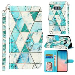 Stitching Marble 3D Leather Phone Holster Wallet Case for Samsung Galaxy S10e (5.8 inch)