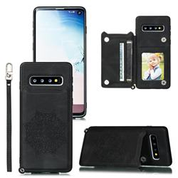 Luxury Mandala Multi-function Magnetic Card Slots Stand Leather Back Cover for Samsung Galaxy S10e (5.8 inch) - Black