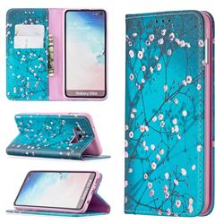 Plum Blossom Slim Magnetic Attraction Wallet Flip Cover for Samsung Galaxy S10e (5.8 inch)
