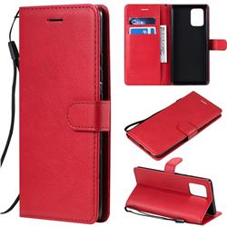Retro Greek Classic Smooth PU Leather Wallet Phone Case for Samsung Galaxy S10 Lite(6.7 inch) - Red